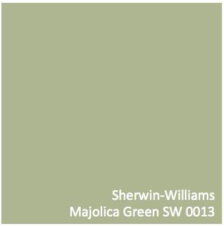 Sherwin Williams Majolica Green (SW 0013)
