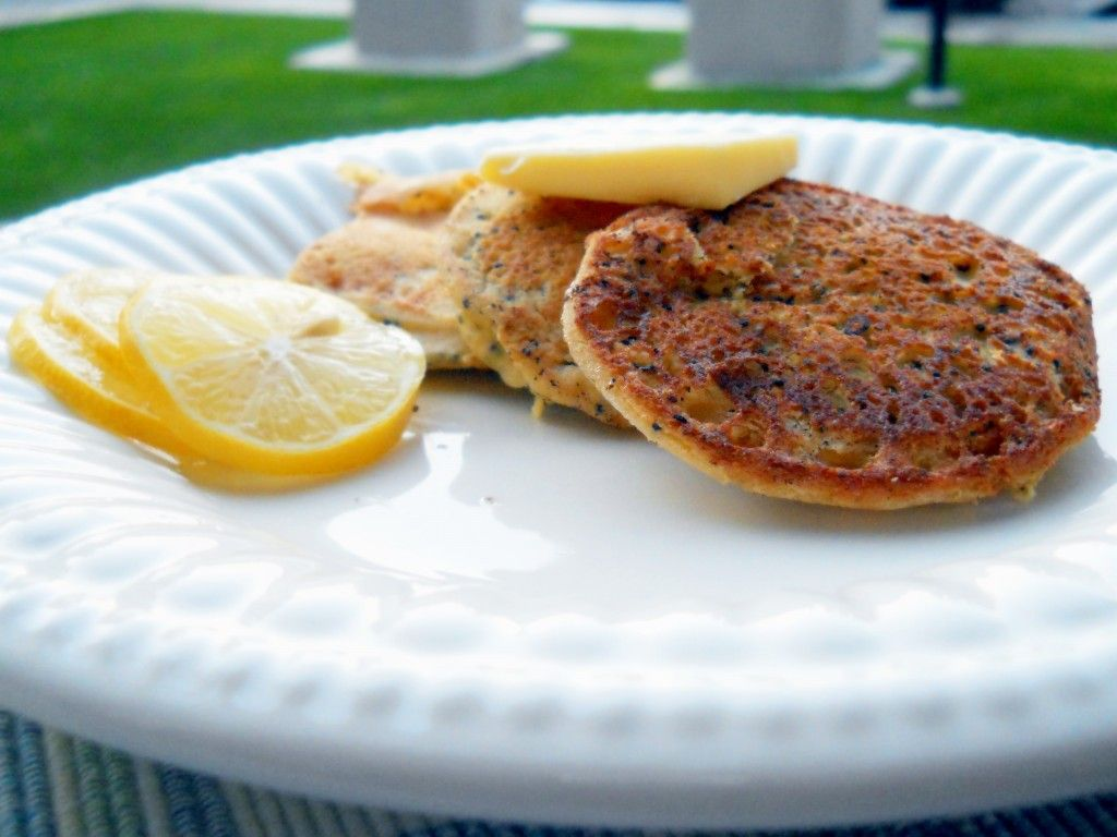 Lemon Poppyseed Pancakes Grain Free GAPS Friendly