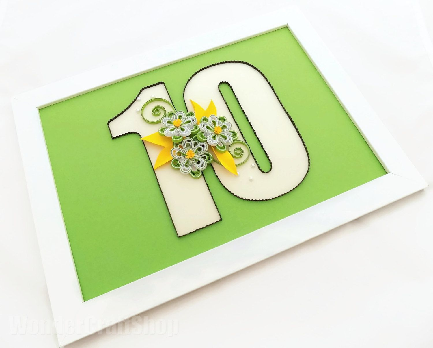 10th anniversary gift for her 10 year anniversary number