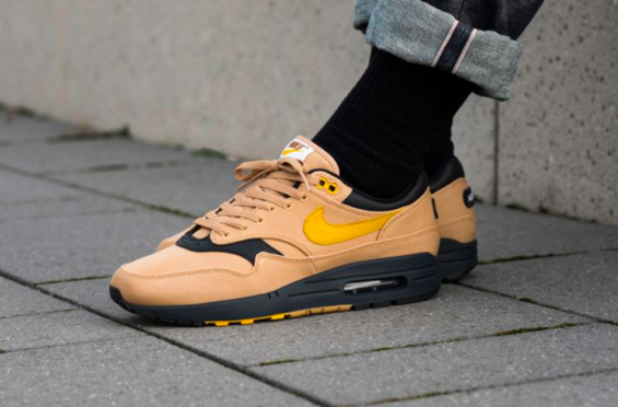 cheap for discount 3954e 549c3 ... clearance now available nike air max 1 premium canvas elemental gold  2352a e09f4