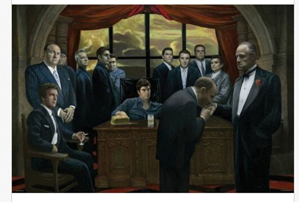 Gangsters Wall Poster The Godfather The Sopranos Scarface And Casino Framed Art Poster The Godfather Sopranos Poster Art