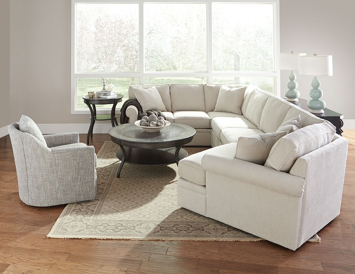 Our Brentwood Sectional And Our Hollins Swivel Chair Make A