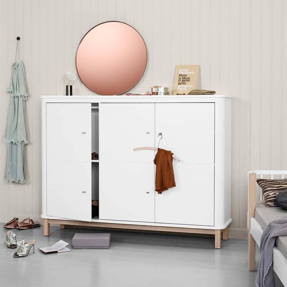 Oliver Furniture Wood Multi Schrank 3 Turig Weiss Eiche In 2020