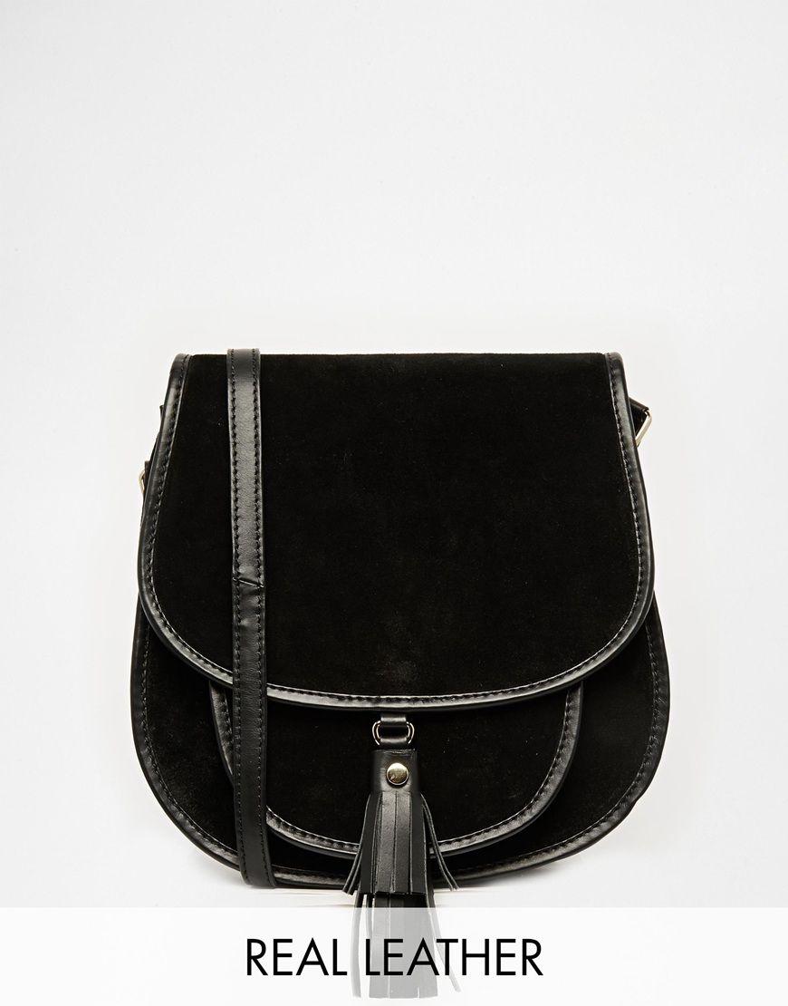 Asos Suede 70s Saddle Shoulder Bag