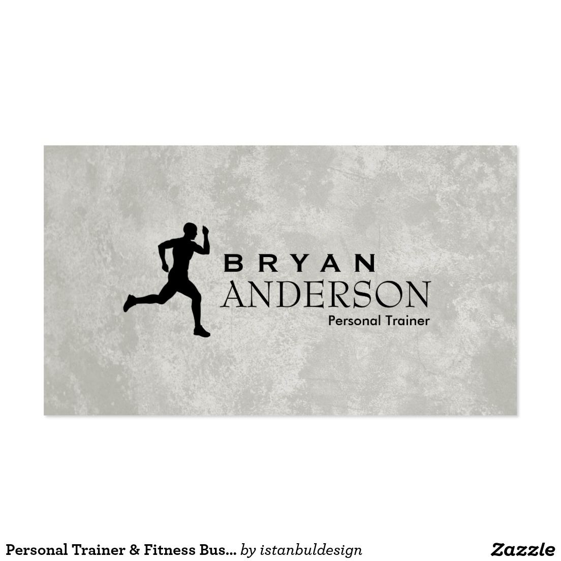 Personal Trainer & Fitness Business Card | Fitness Business Cards ...