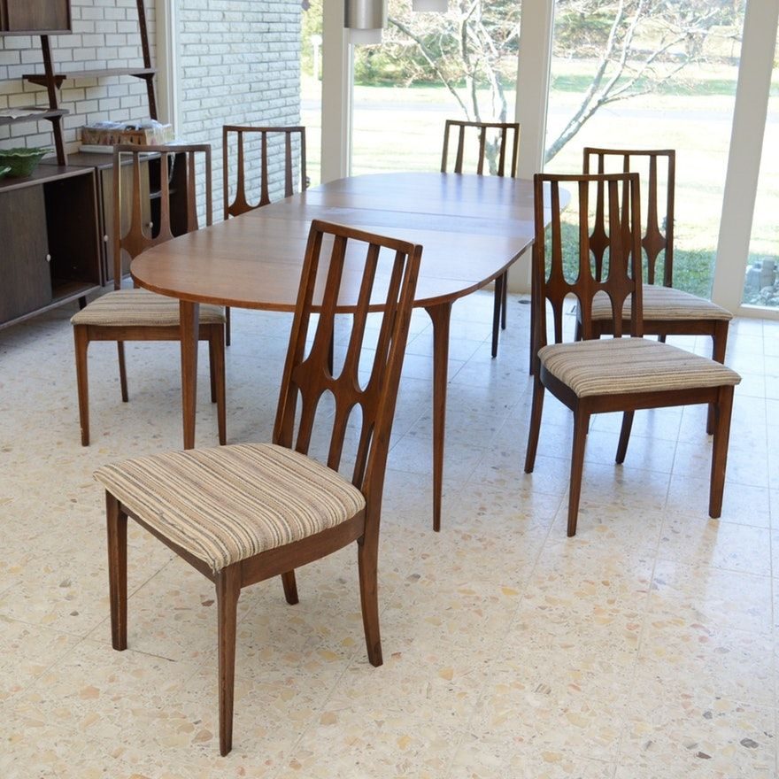 Broyhill Brasilia Drop Leaf Dining Table And Six Chairs Drop