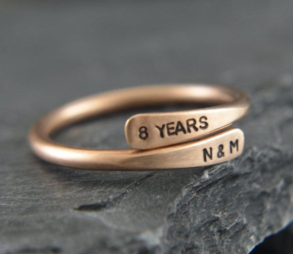 Personalised Bronze Ring. Great gift for by PersonalizedTreazure