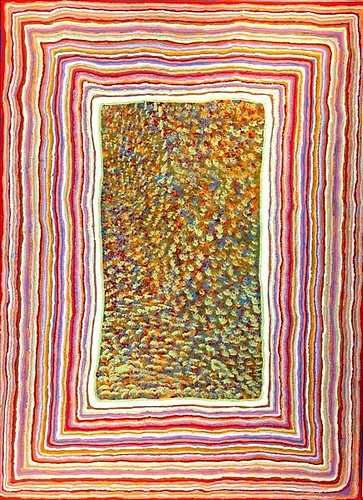 Takubulangu Paintings from Ikuntji - Haasts Bluff  Gwion   Ikuntji, or Haasts Bluff as it is also known, is located 230 kms west of Alice Springs