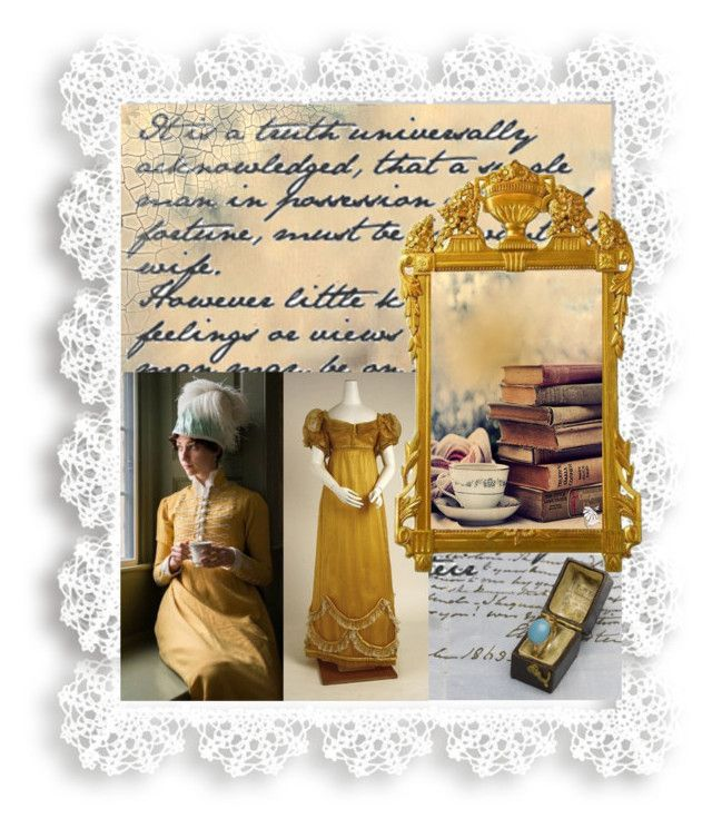 """Vintage dress from Jane Austen time era"" by fashionrushs ❤ liked on Polyvore featuring vintage"