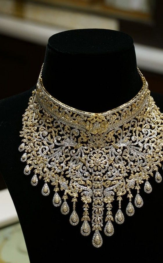necklace gold uncut jewellery designs latest diamond