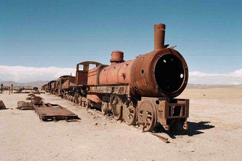 #Cementerio de #trenes en #Uyuni, #Bolivia