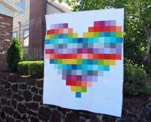 Pixel Heart Pattern