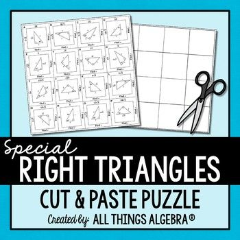 Special Right Triangles Puzzle | | Math • High School ...