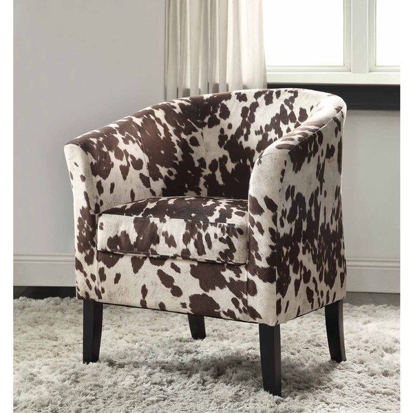 Linon Simon Cow Print Flared Arm Udder Madness Club Chair Ping Great Deals On Living Room Chairs