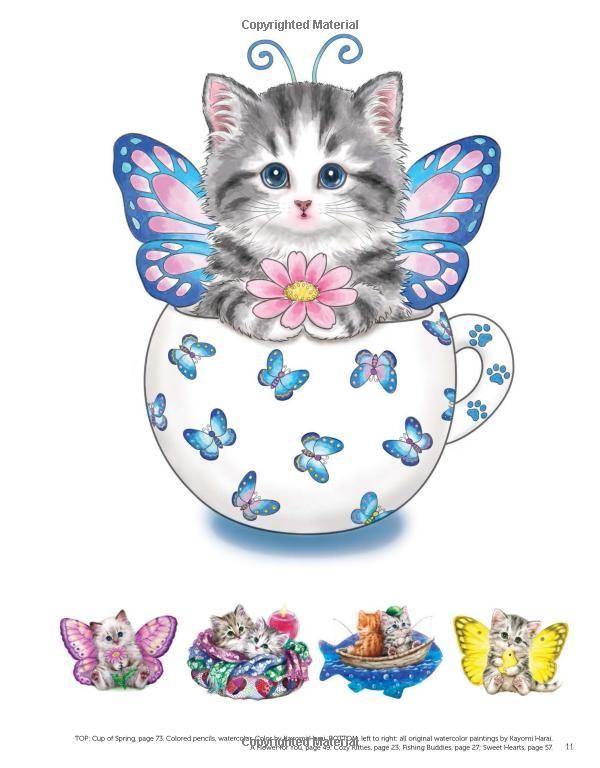 Amazon Teacup Kittens Coloring Book 9781497202269 Kayomi Harai Books