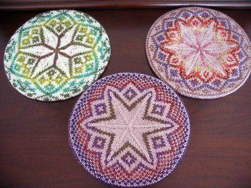 Three Tams - Winter 2007 - Knitty free knit pattern fairisle ...