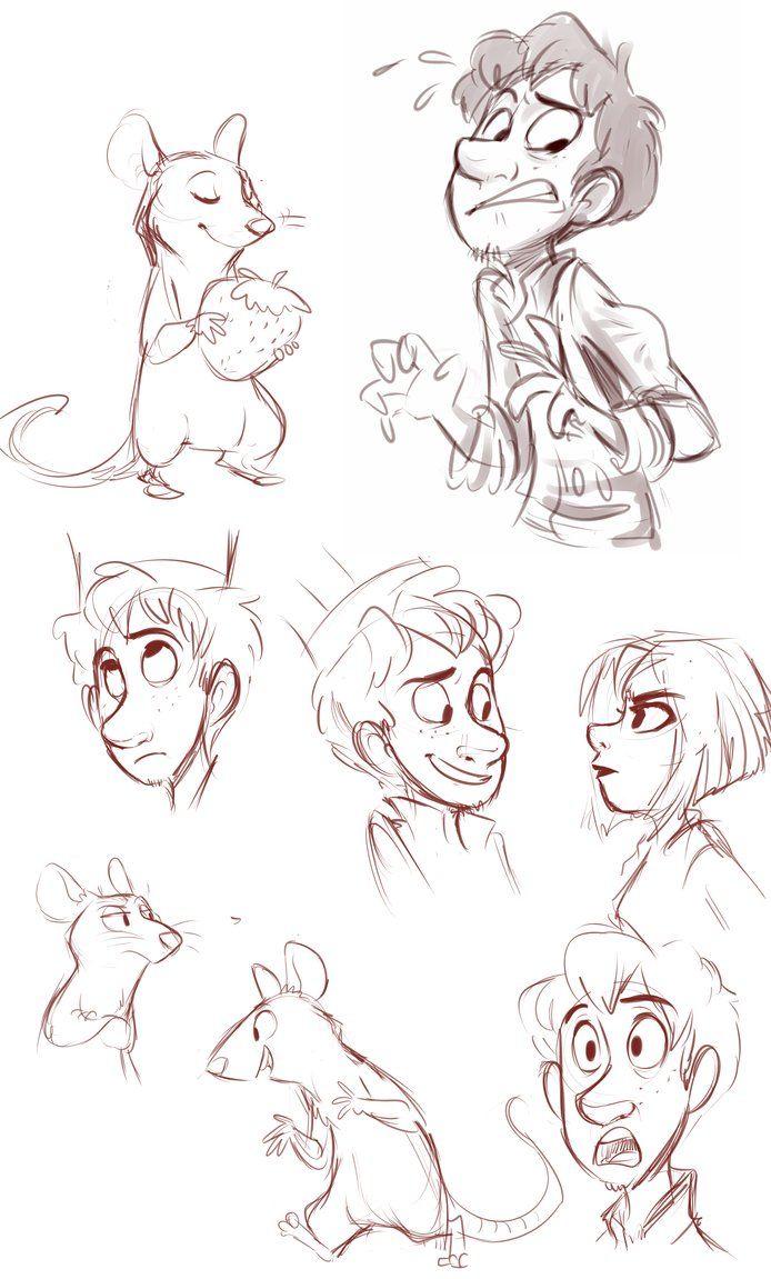 Character Design Ratatouille : Ratatouille sketches by sharpie art