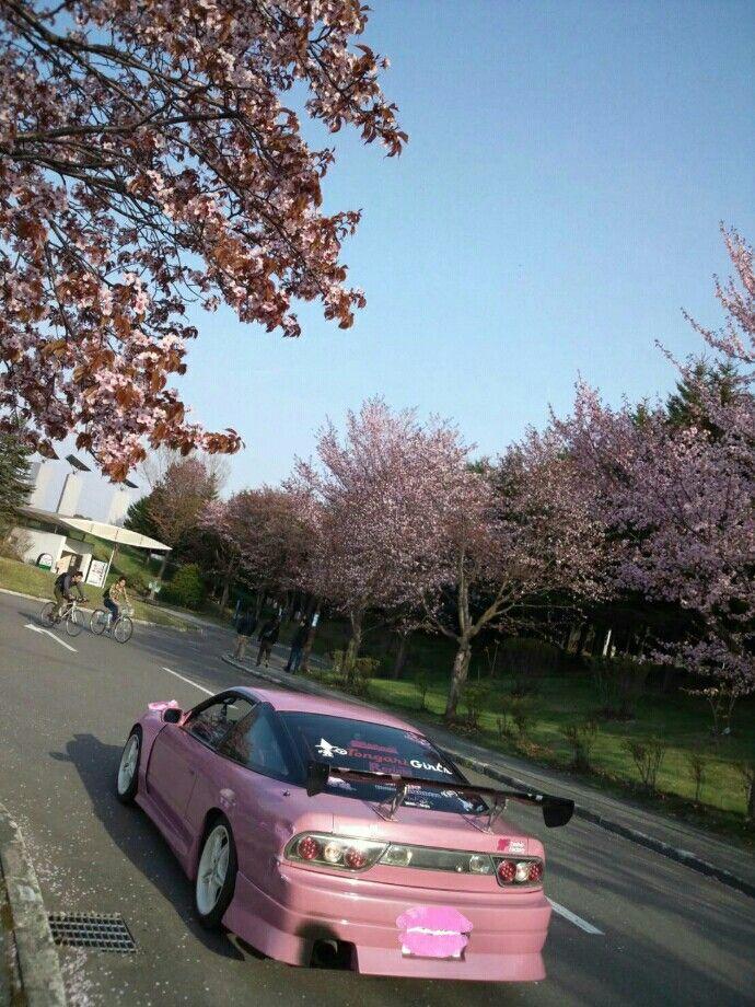 #pink #180SX #GT2540 #Kitty Racing #my car #桜 #北海道