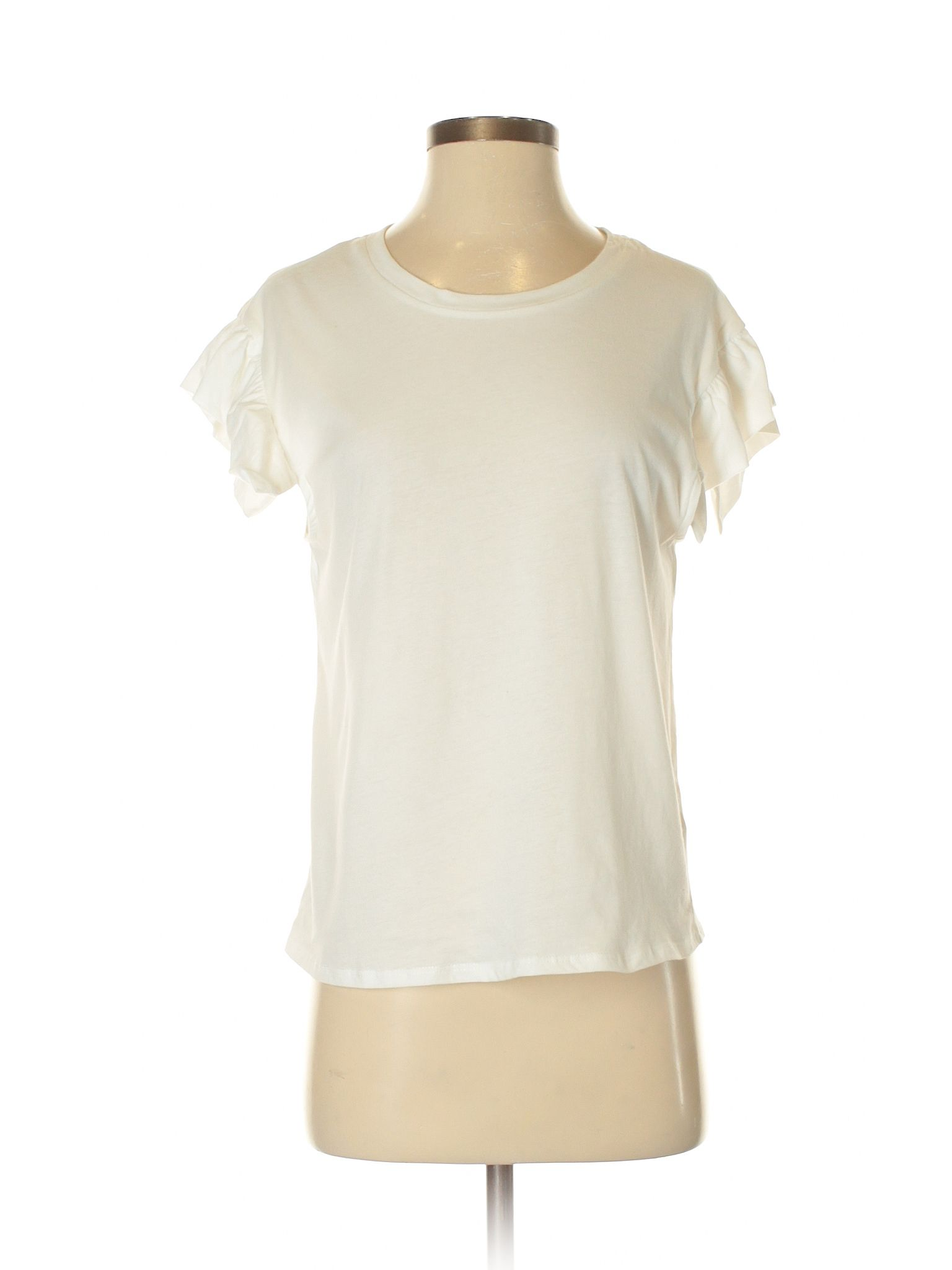 6d6bebcb4 Nectar Short Sleeve Top: Size 4.00 Ivory Women's Tops - $8.99