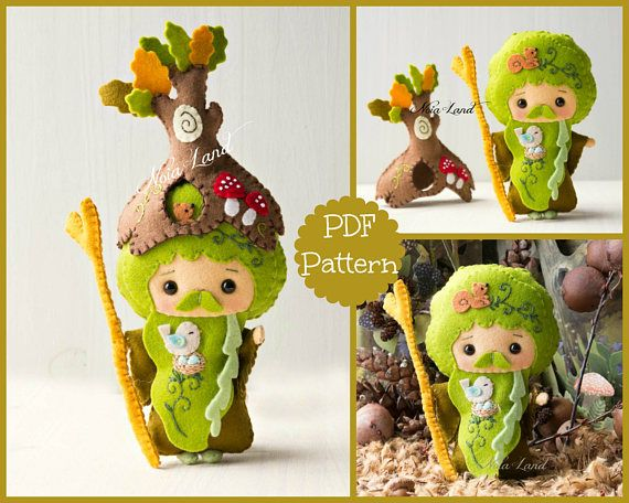 PDF. The wizard Father Forest. Plush Doll Pattern, Softie Pattern ...