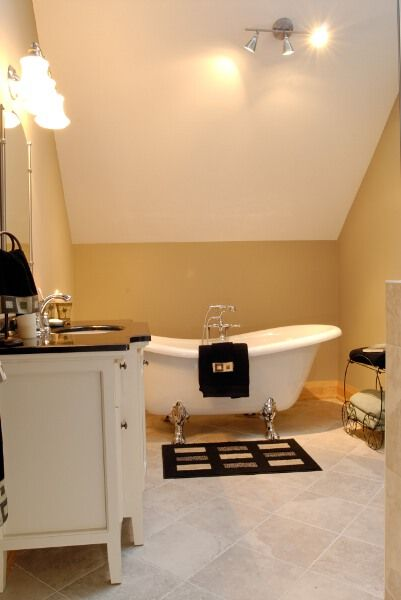 Bathrooms Sloped Ceiling   Spa Style Bathrooms   Photo Gallery   Look  Inside Linwood Homes