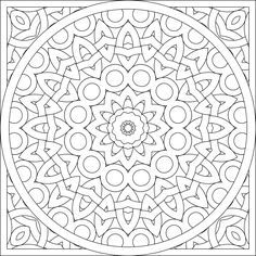blank coloring page mandala by shala kerrigan posted on monday october 24 2011
