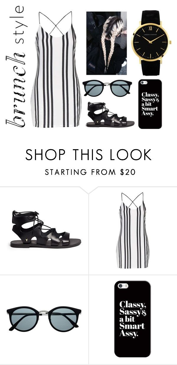"""BrunchStyle"" by xxbebeautifulxx on Polyvore featuring Mode, Windsor Smith, Topshop, Casetify, Larsson & Jennings, blackandwhite, withfriends und brunch"