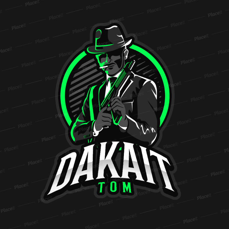 Gaming Logo Maker Featuring a Suited Mafia Gangster