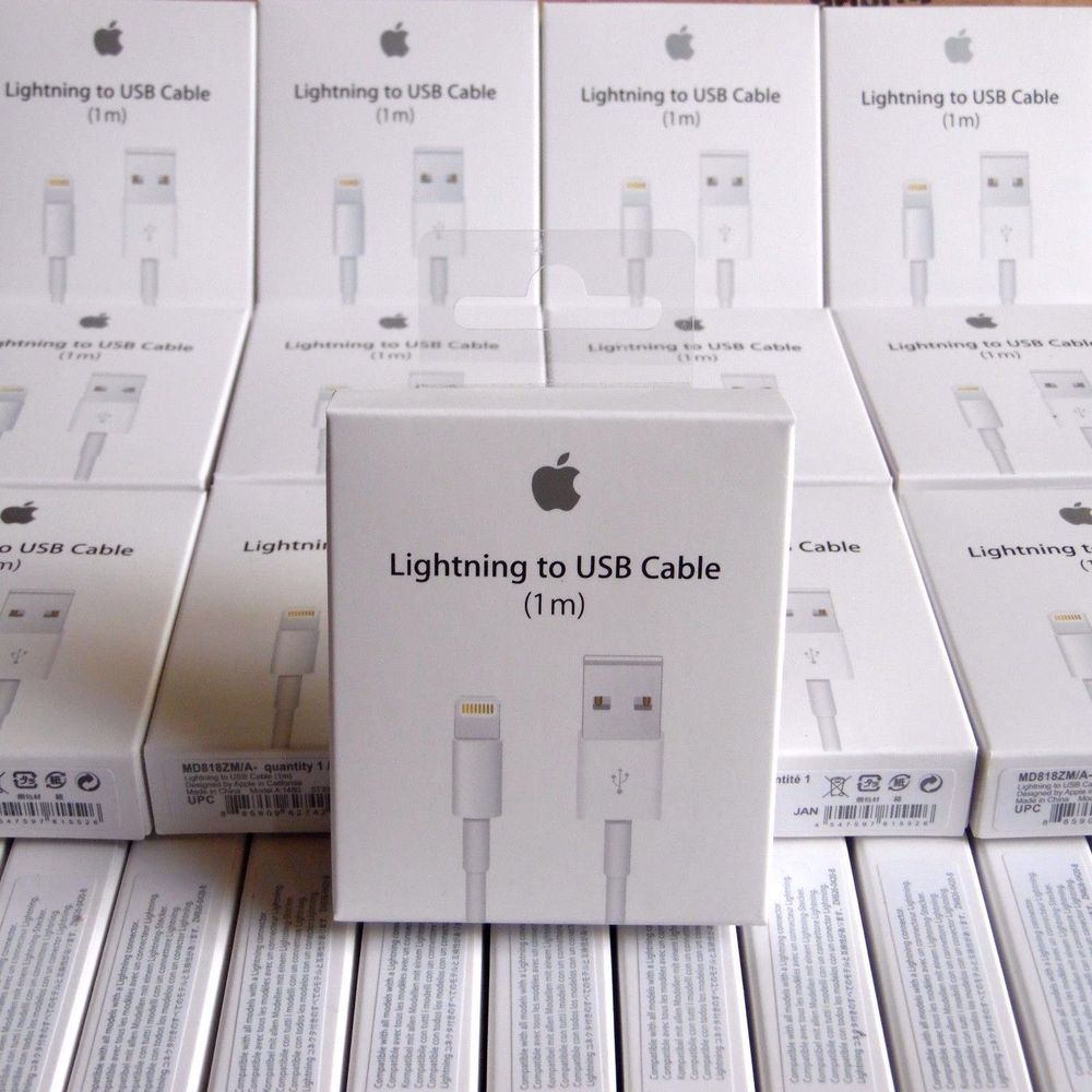 pretty nice 97506 1001f 50x Authentic OEM Apple Lightning USB Charger Cable for iPhone 5/5s ...