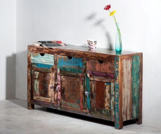 Teak Sideboard 150x85x45cm Massiv Shabby  Vintage Pinterest Teak - einrichtung im kolonial stil ideen fur mobel und deko kombinationen