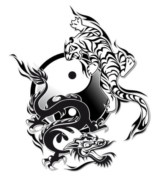 matching tattoos for me and my husband me sign of the dragon him rh pinterest com Yin Yang Border Yin Yang Symbol Designs