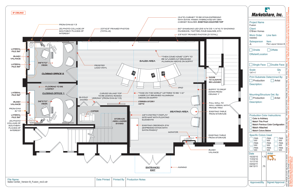 Sales office layout layouts spaces and office designs for Sales office design