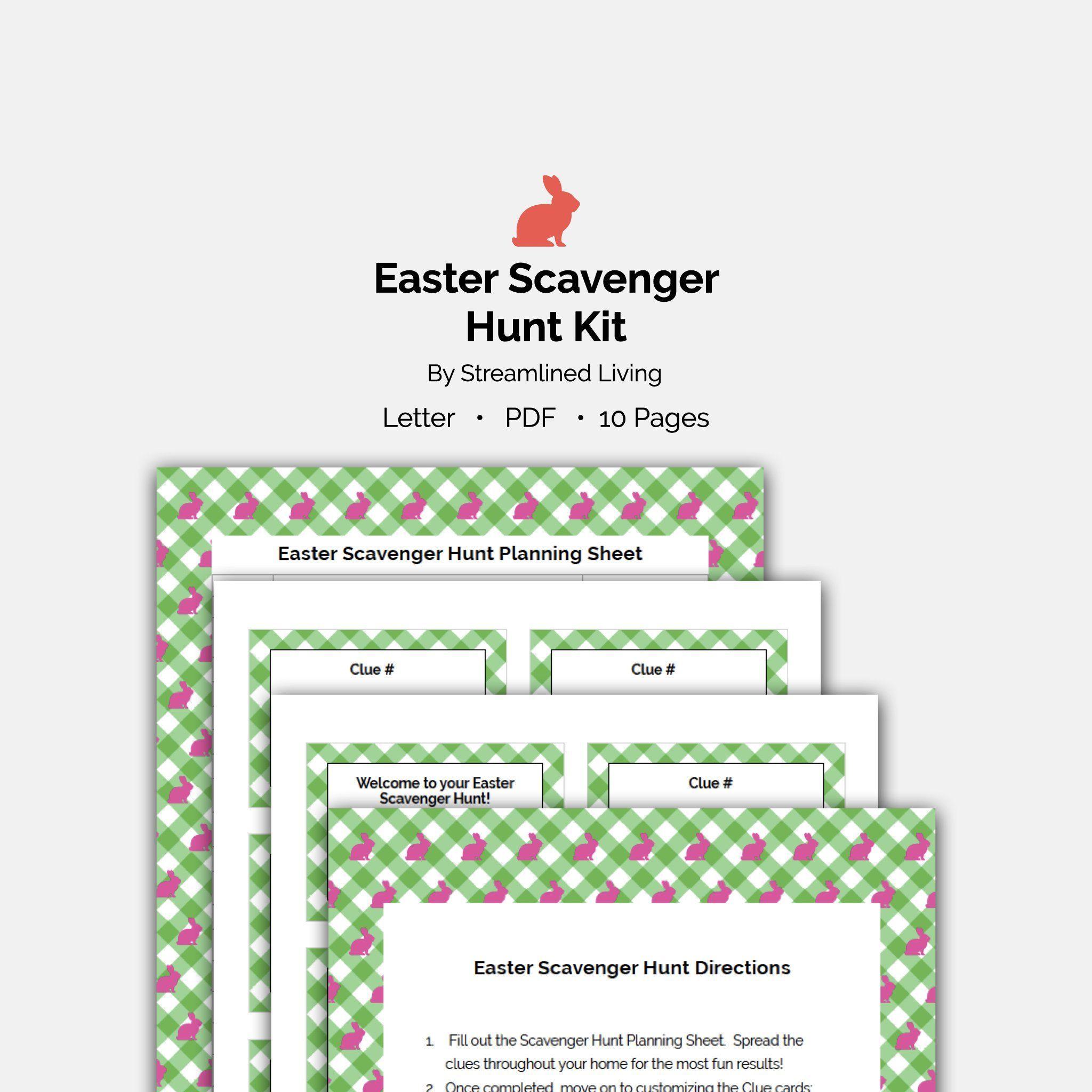 Easter scavenger hunt printable game in 2020 easter