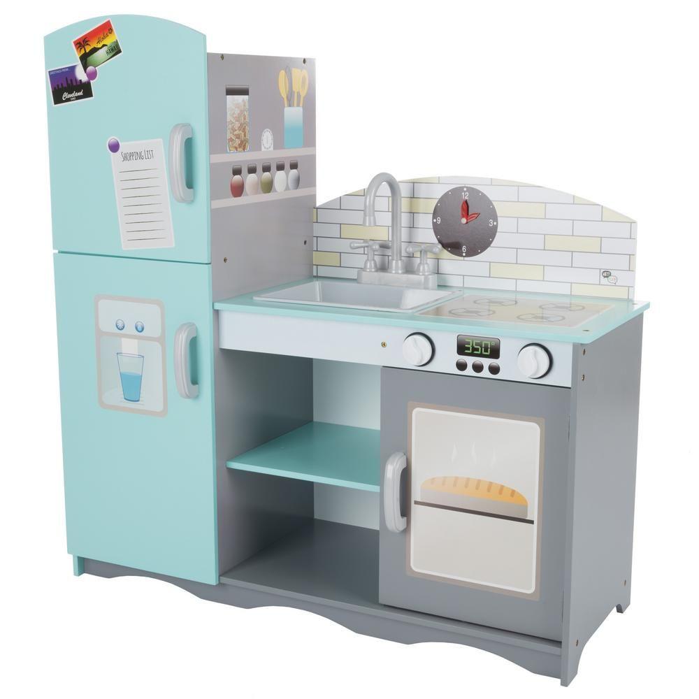 Hey Play Kids Pretend Play Toy Kitchen Set Hw3300055 In