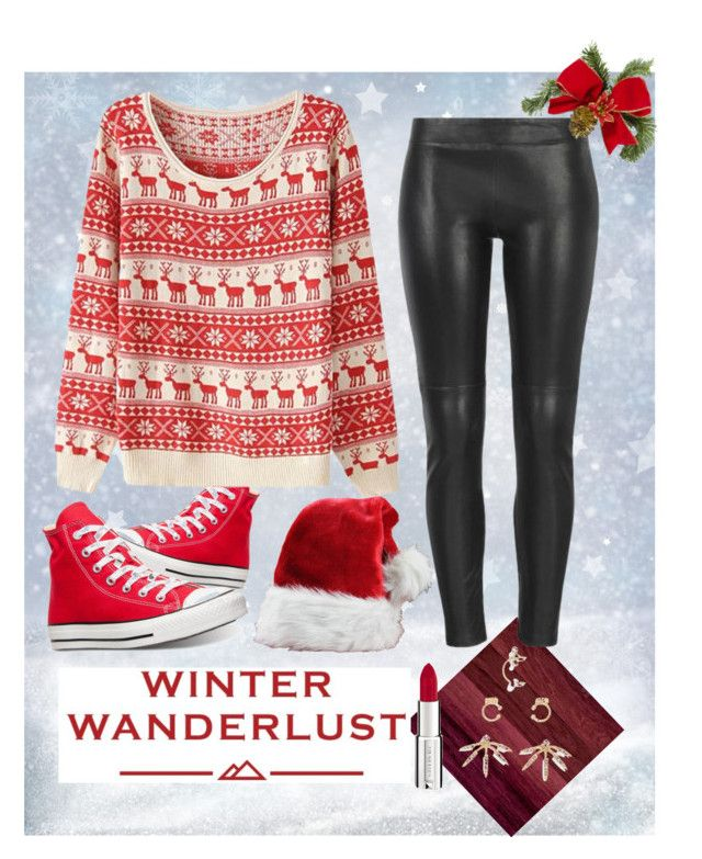 """happy holiday"" by alieksandra ❤ liked on Polyvore featuring Converse, MuuBaa, American Eagle Outfitters, BaubleBar and Givenchy"