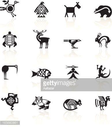 Indian Tribal Animals Icons Tribal Animals Animal Symbolism Native American Symbols