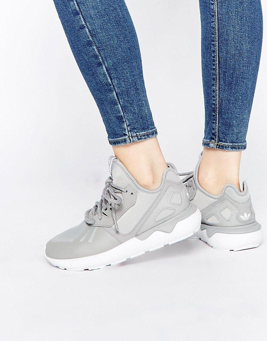 adidas Originals Tubular Runner Grey Trainers at asos.com
