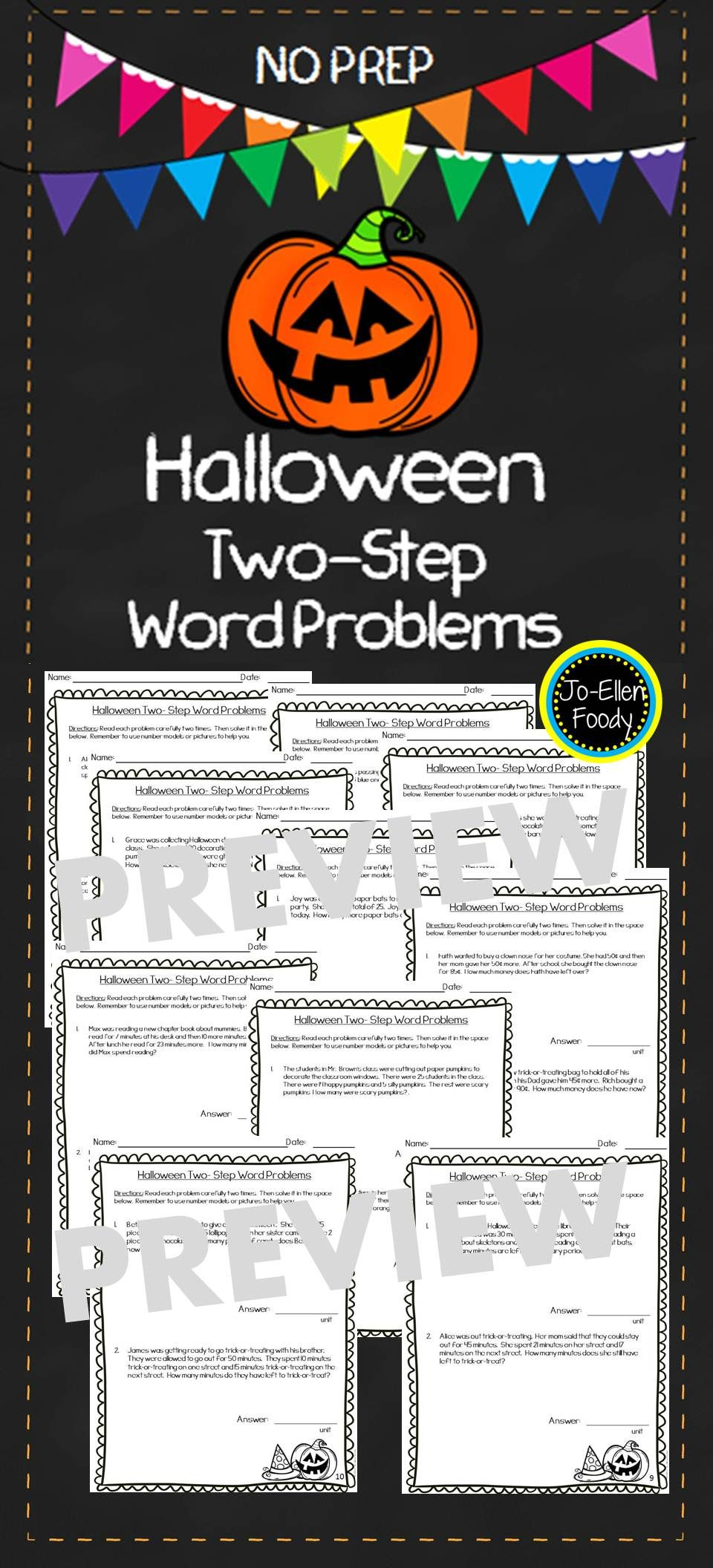Halloween Two Step Word Problems Perfect For Practicing This Tricky Skill Use Them For Morning Word Problems Math Skills Practice Teaching Resources Primary [ 2112 x 960 Pixel ]