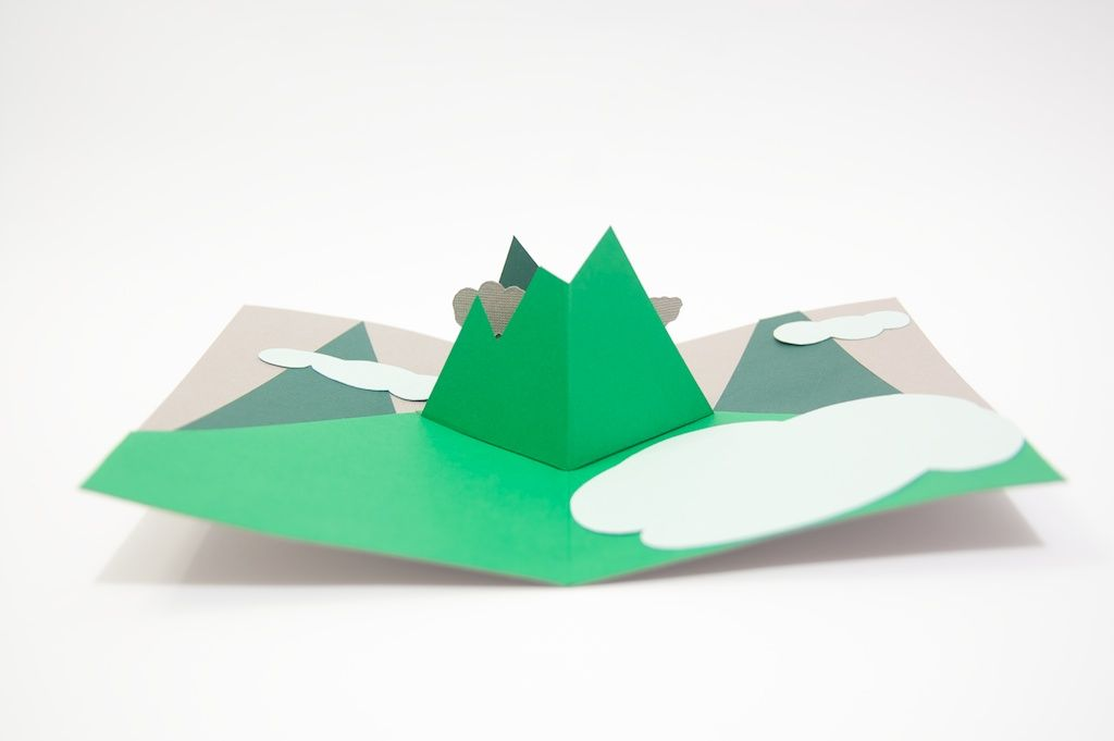 Mountains Popup Card Pop Up Cards Pop Up Book Mountain Crafts