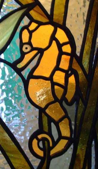 Glass Mosaic Shell Patterns Free | Seahorse Stained Glass | stained ...