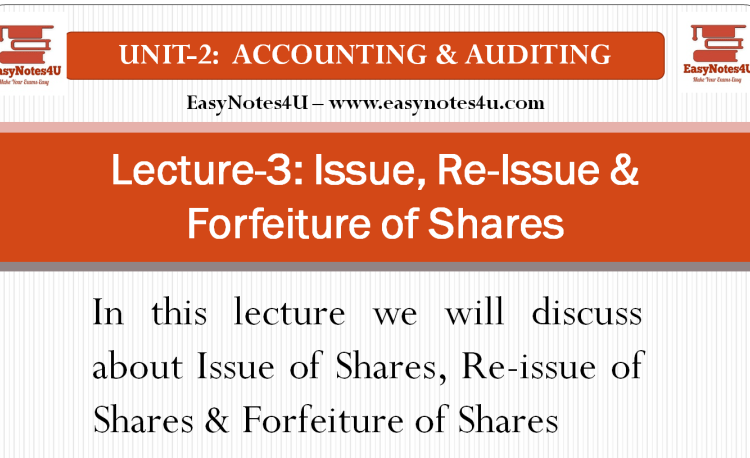 Issue Of Shares Lecture Research Paper The Unit
