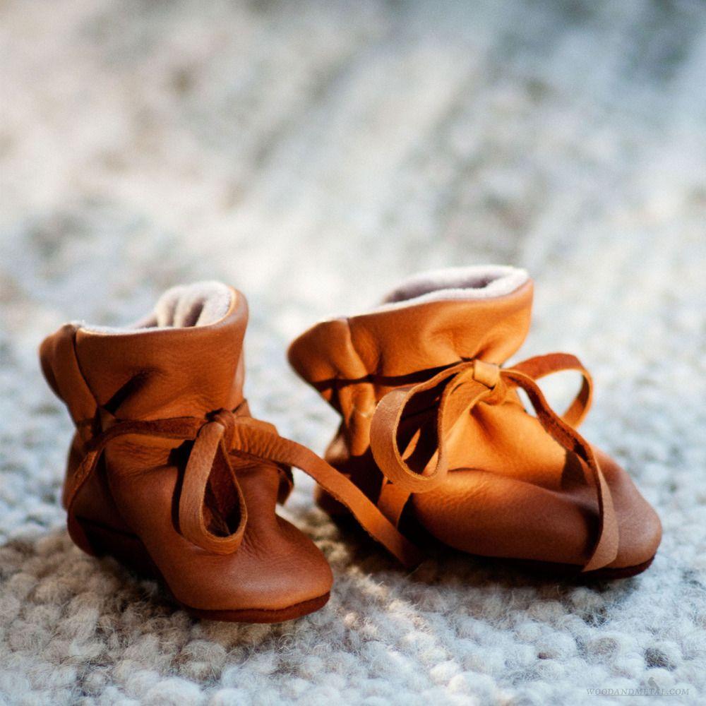 Wood and Metal — Geier Deerskin Baby Moccasins - Vellux Lined