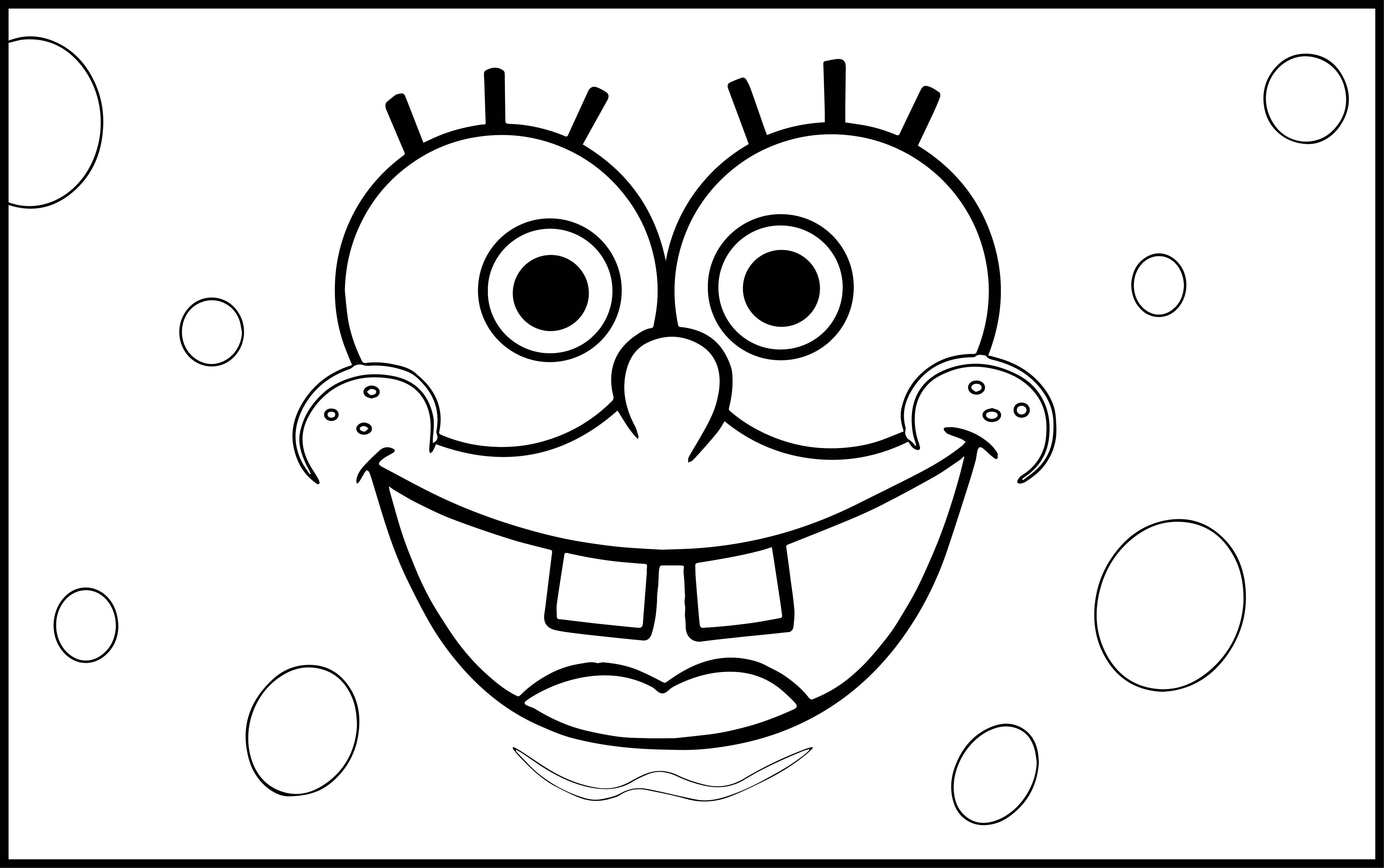 Sponge Bob Rectangle Coloring Page
