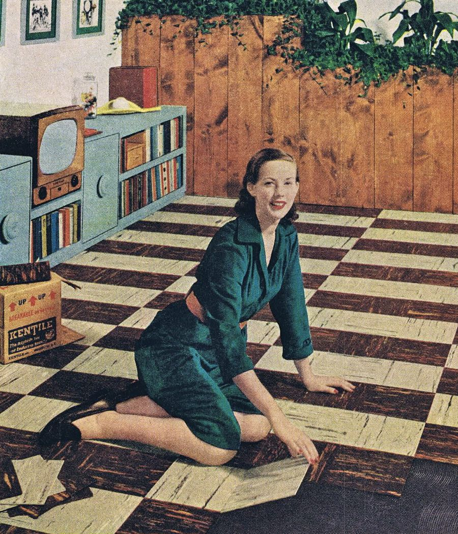 1950s Asbestos Tile Floors We Moved Into The Pvc Ones In The Early 60s Bold Paint Colors Vinyl Floor Covering Design Print Layout