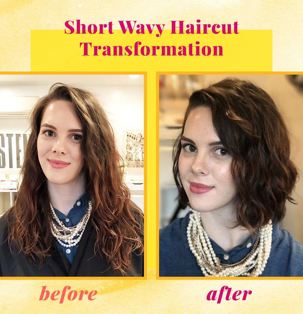Grace S Wavy Bob Haircut Transformation In 2020 Short Wavy Haircuts Wavy Bob Haircuts Wavy Haircuts