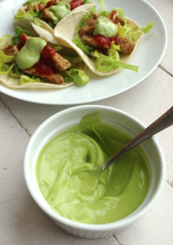 Avocado Cream Dairy Free Sour Cream Substitute Worthcooking Net Recipe Dairy Free Tacos Dairy Free Recipes Dairy Free
