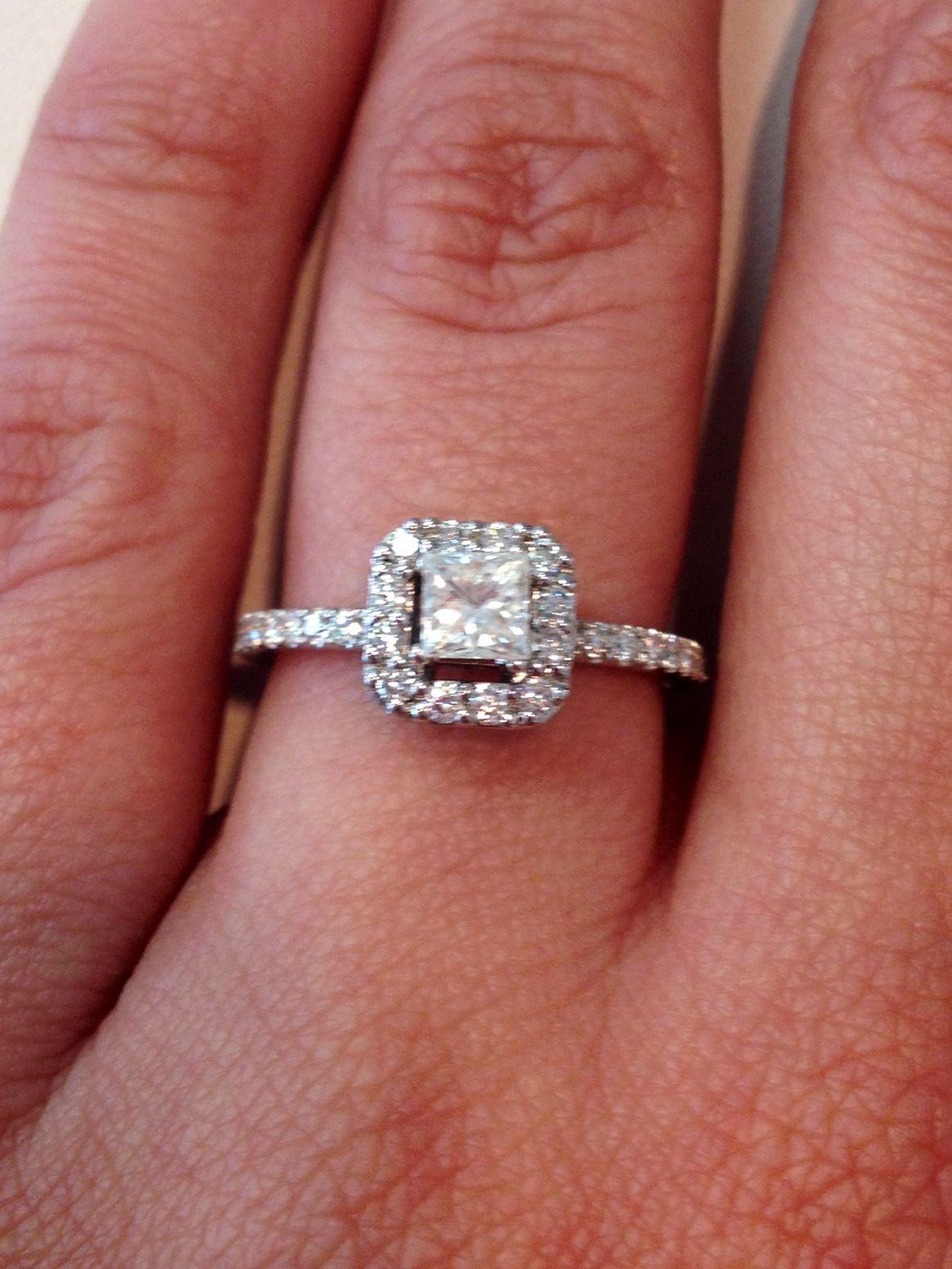 Beautiful Princess cut diamond ring in stock at DeLyn Jewelry | Say ...