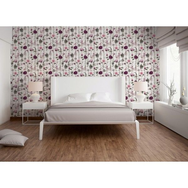 Urban herbier violet - Collection Urban flowers d\'AS Création ...