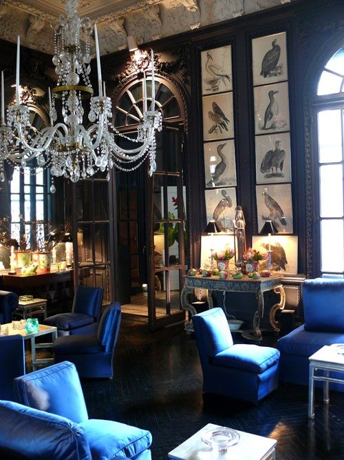 Charming {Thomas Brittu0027s Dramatic Living Room Via New York Social Diary}
