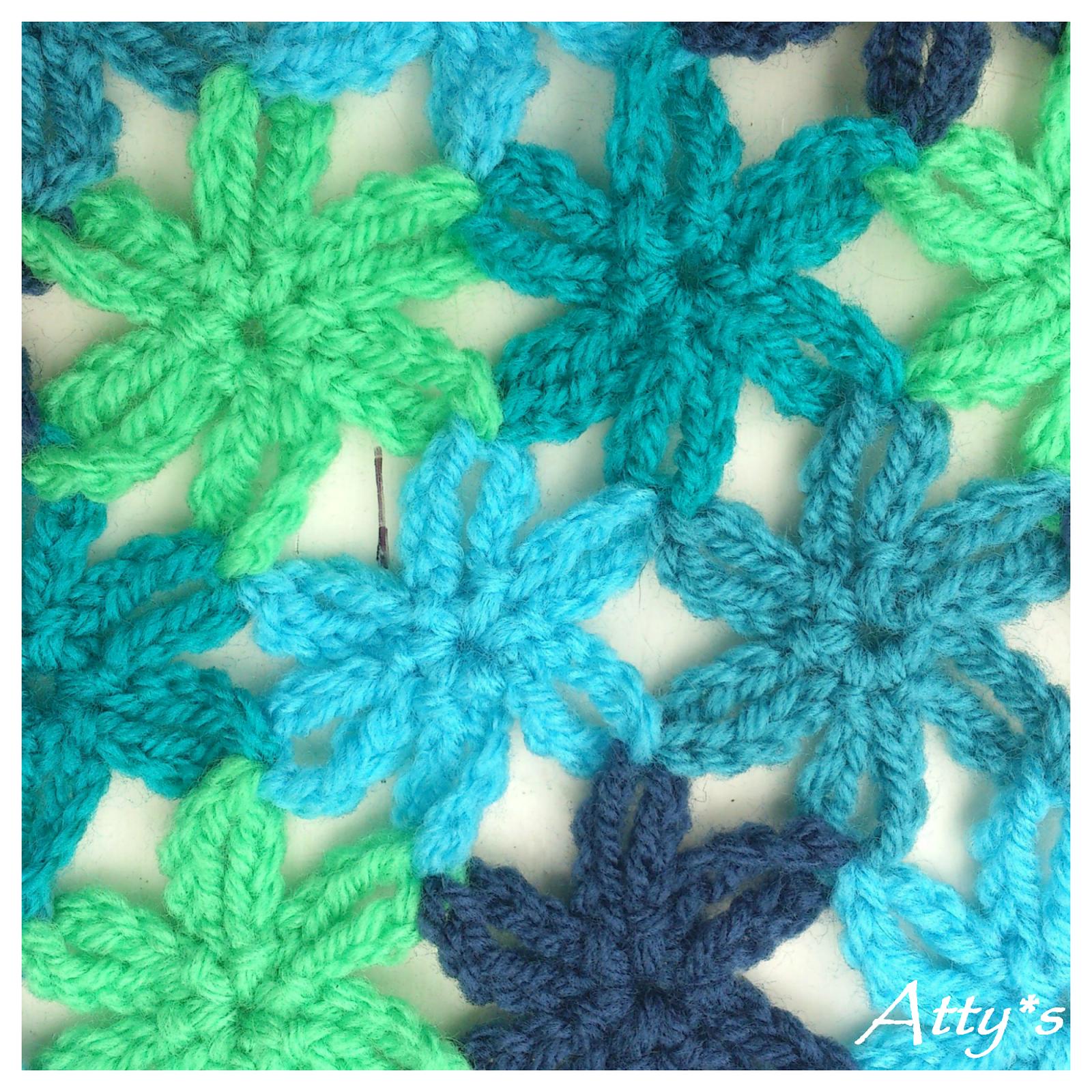 Joined Little Crochet Flower Pattern
